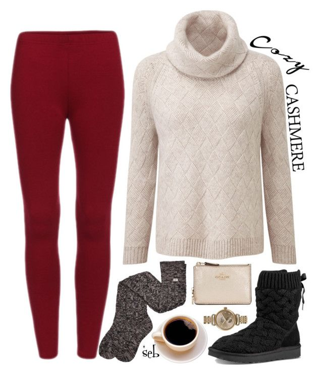 """""""Holiday Style: Cozy Chic II"""" by coombsie24 ❤ liked on Polyvore featuring UGG, Coach and Shinola"""