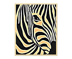 Stampa su tela con telaio in legno Zebra II - 80x100 cm