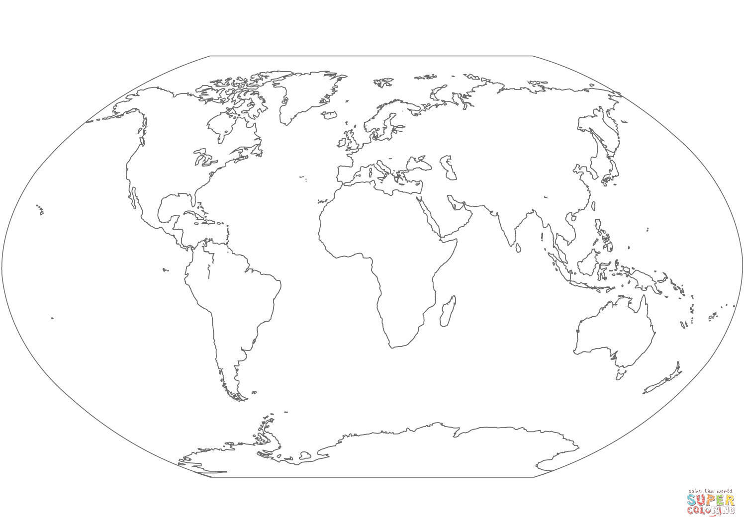 World Map coloring page  Free Printable Coloring Pages  World