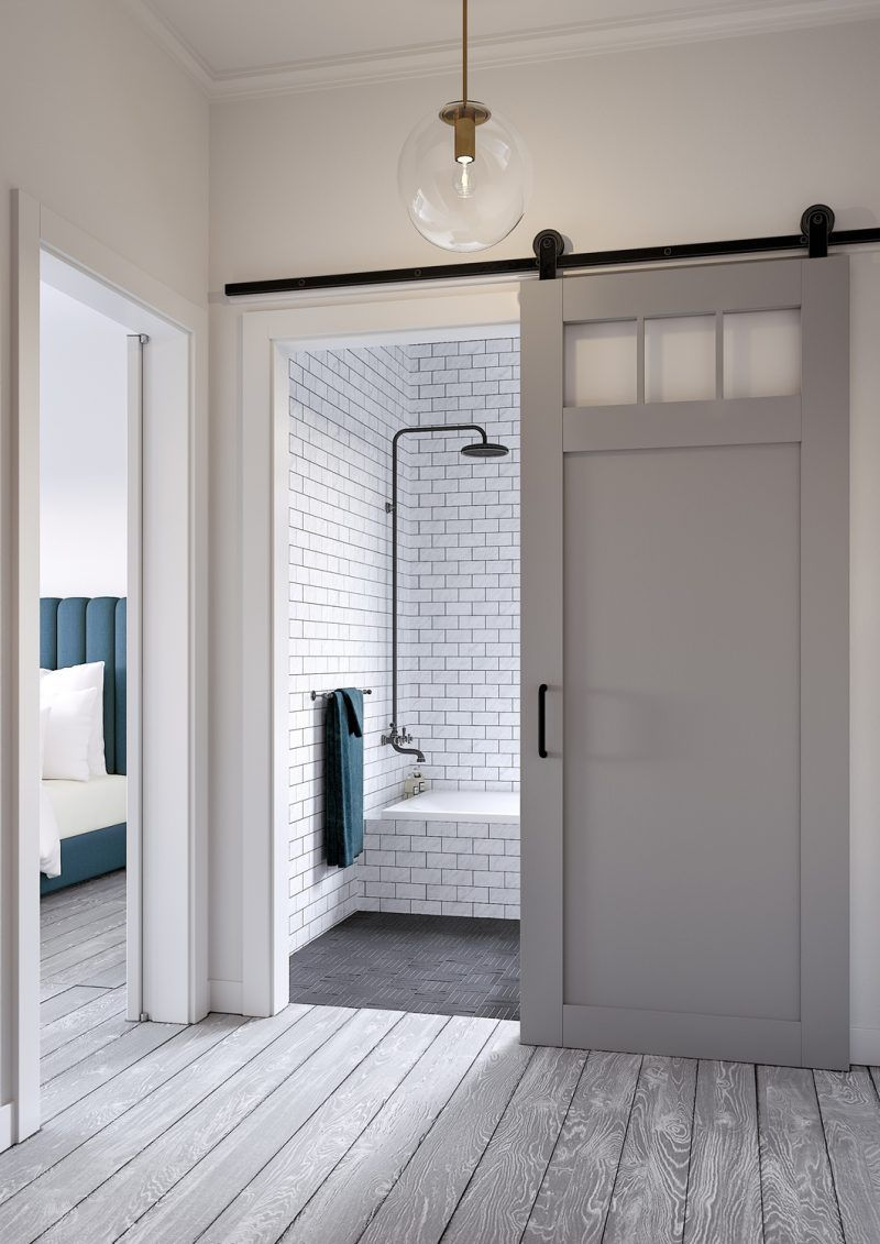 craftsman style barn door kit jeff lewis design laundry room rh pinterest com