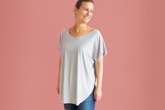 Ganz schnell ein Shirt aus Jersey nähen - ohne Versäubern! Wir zeigen dir, wie du das ganz einfach nachmachen kannst. Du brauchst nur wenige Materialien wie Schere und Nähmaschine! #håndarbejde