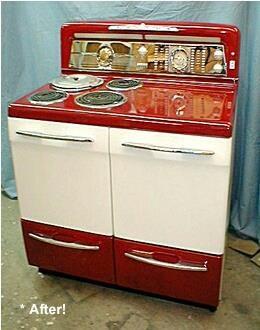 ♥♡Restored vintage range in red♥♥