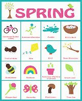 image about Spring Bingo Game Printable titled Spring Scavenger Hunt/Bingo recreation! With printables! Entertaining Jar