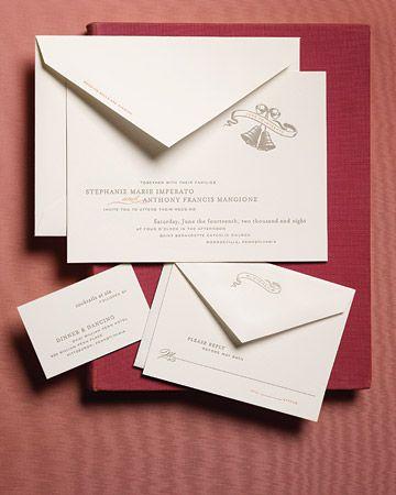 From Martha Stewarts wedding site the Anatomy of a Wedding