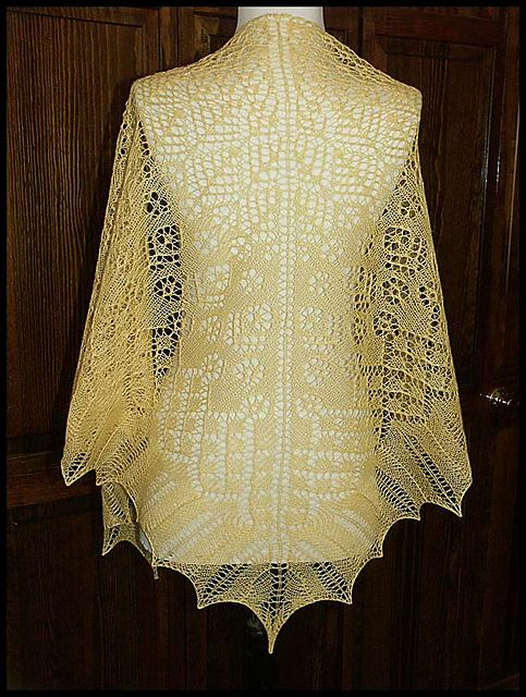 Renaissance Knit Lace Shawl In Woolsilk Lace Weight Yarn Pattern