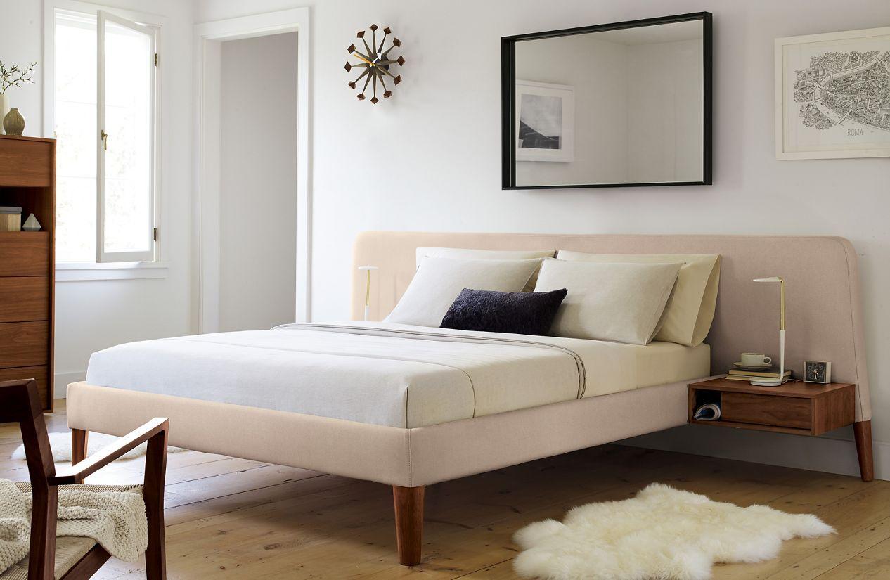 Parallel Wide Bed Modern Platform Bed Bed Design Modern Bed