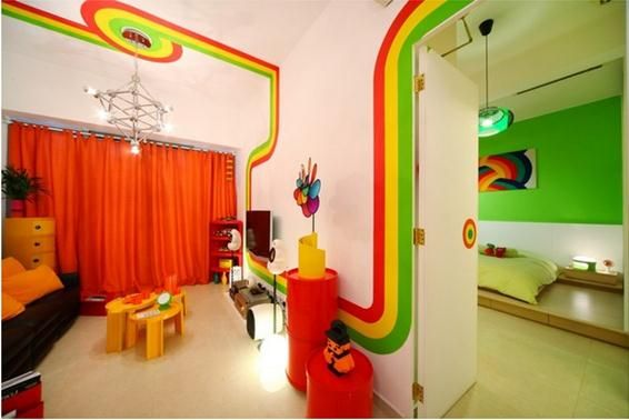 The Rainbow House Is A 830 Sq Ft Flat At The Cairnhill In
