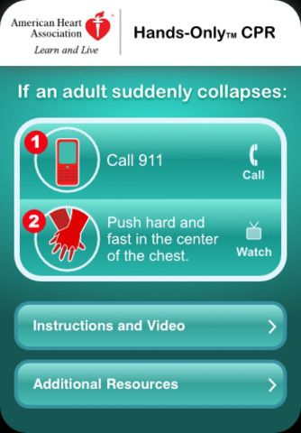 hands only cpr app free for android and iphone. by american heart ...