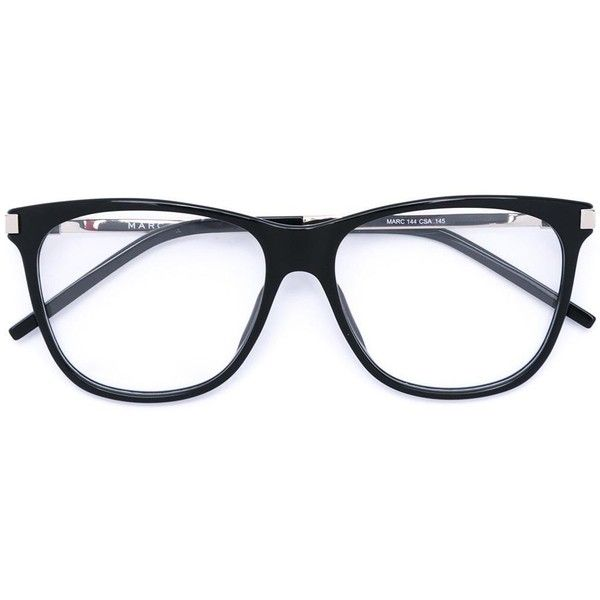 7009ad665d82 Marc Jacobs square frame glasses ($245) ❤ liked on Polyvore featuring  accessories, eyewear, eyeglasses, black, unisex glasses, square frame  glasses, marc ...