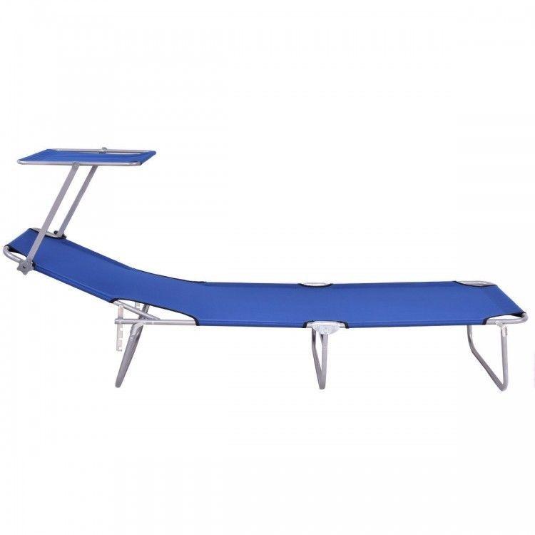 Sensational Blue Steel Beach Lounge Foldable Reclining Chaise Sun Evergreenethics Interior Chair Design Evergreenethicsorg