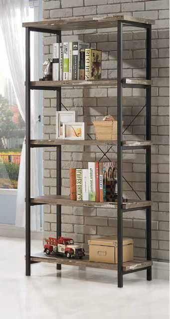 Coaster Salvaged Wood Bookcase Las Vegas Furniture Online
