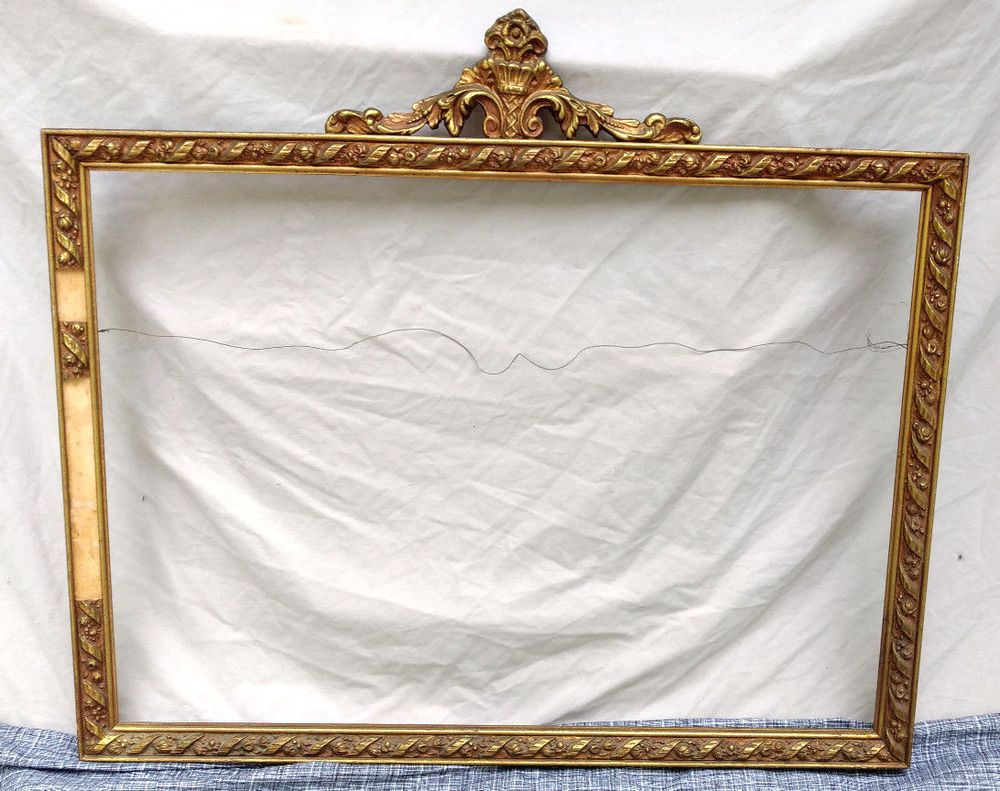 Antique Large Gilt Gold Picture Frame Painting Wood 30\