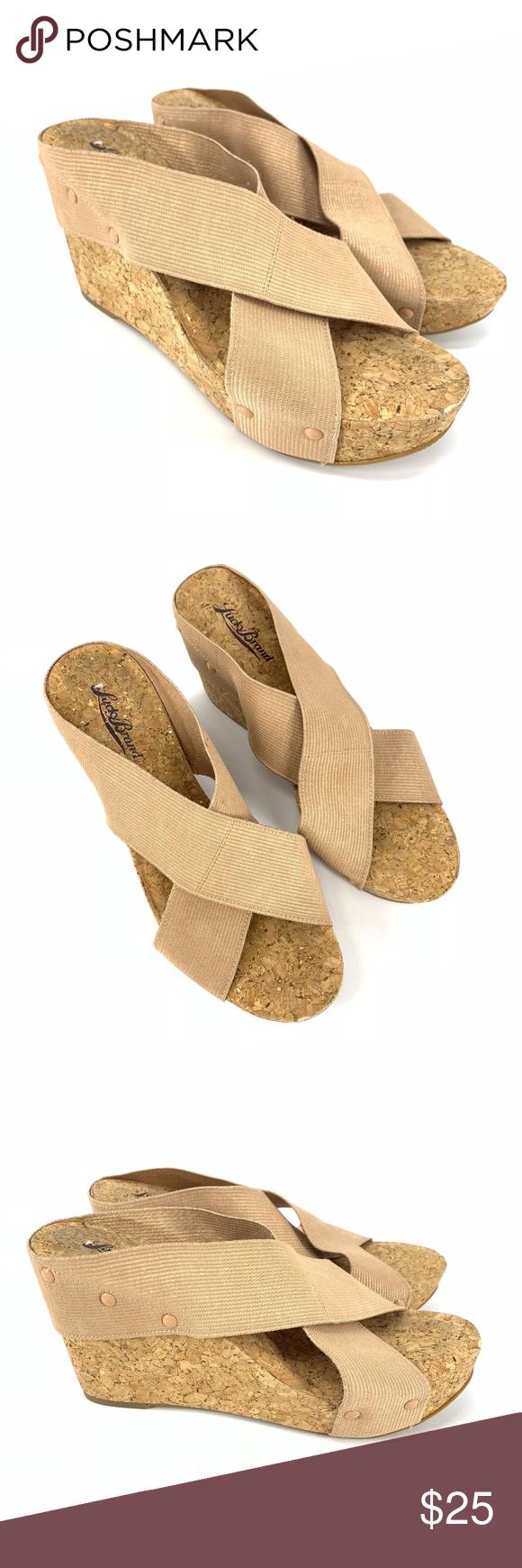 0f418042505a2d Lucky Brand Miller 2 Cork Wedge Sandals Lucky Brand miller 2 cork wedge  sandals. Women s