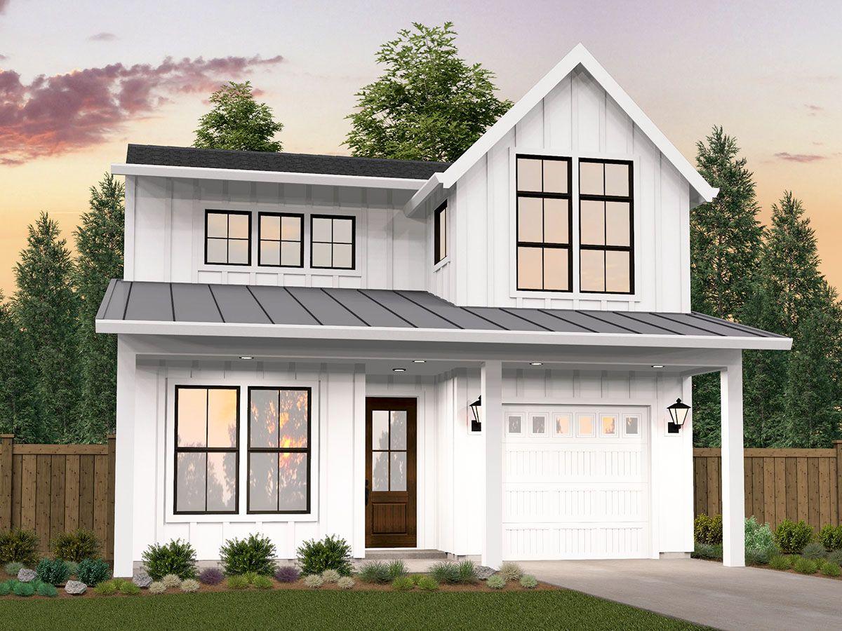 Plan 85315MS 2Story Narrow and Flexible Modern Farmhouse