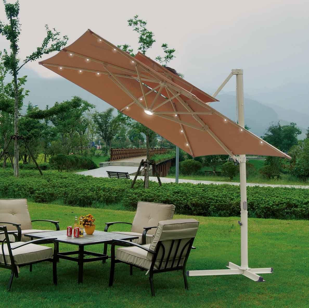 Modern outdoor umbrella stand