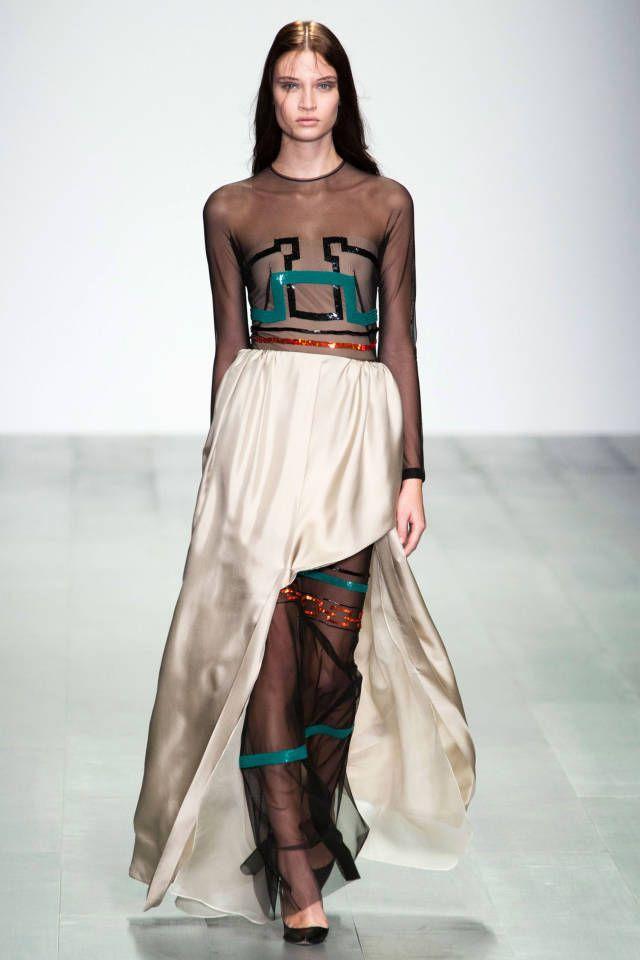 Marios Schwab Spring 2015. See the best runway looks from London Fashion Week here.