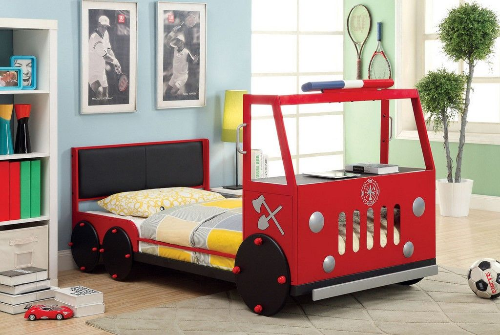 20+ Awesome Fire Truck Bed Ideas Kid beds, Truck toddler