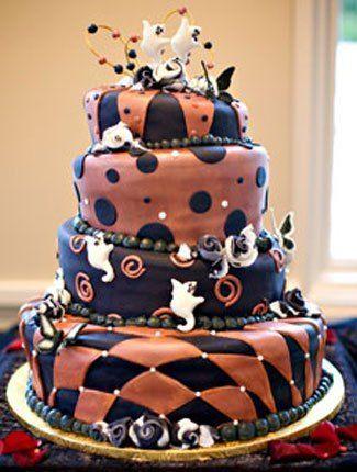 Creative Halloween Wedding Cake! Wedding Inspiration Pinterest - cake decorations for halloween