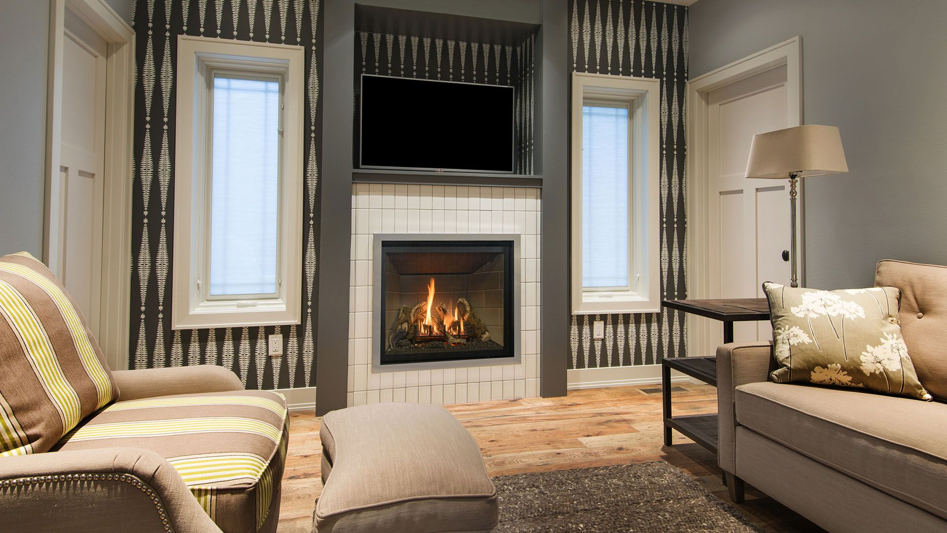 this is our slayton 36 direct vent linear gas fireplace for more
