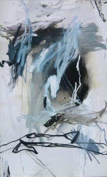 SOCLES-Laurence GARNESSON, 146 x 97 cm, huile et medium sur toile.