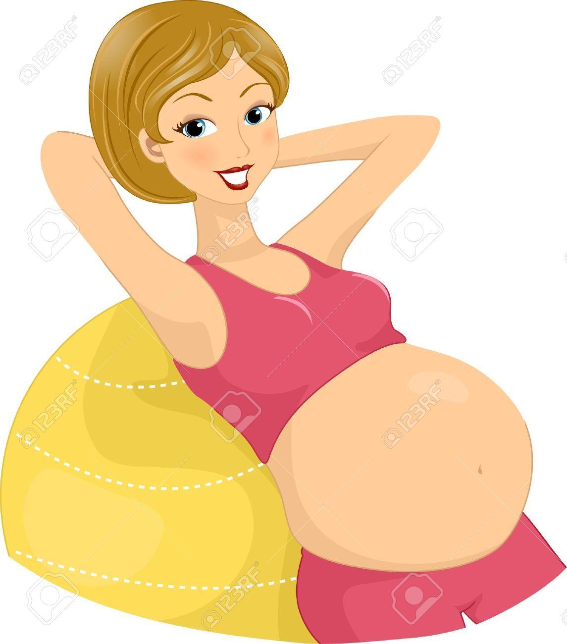 Ilustración de una mujer embarazada. | Mujer embarazada ...