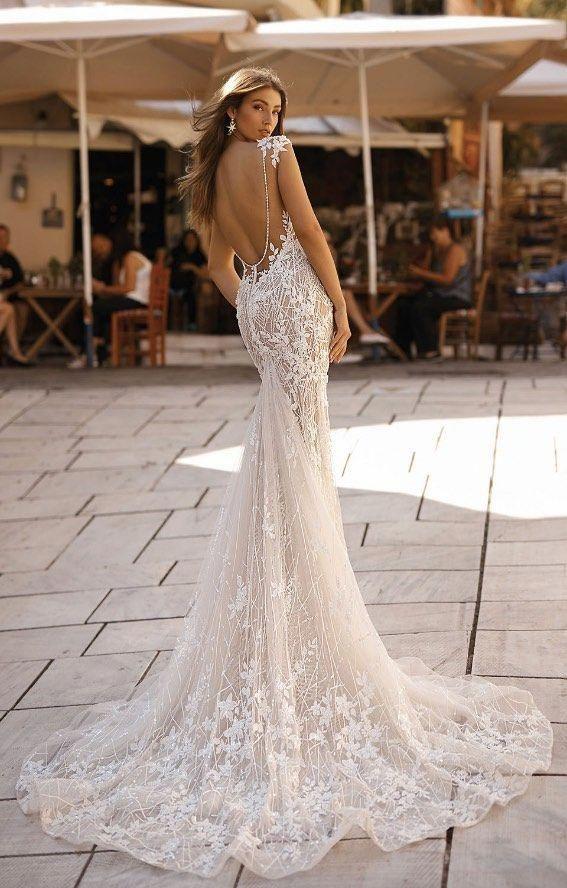 Courtesy of Berta Wedding Dresses; www.berta.com #backlessweddingdress #bertaweddingdress