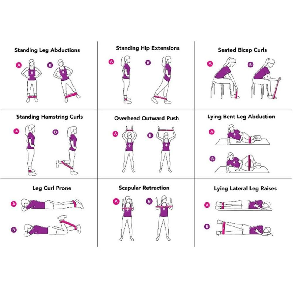Super Woman Resistance Band  Loop Band Exercises -4059