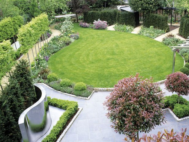Drawing Inspiration From Vacation: A Coastal Themed Garden. Circular LawnLandscape  PlansLandscape DesignsItalian ...