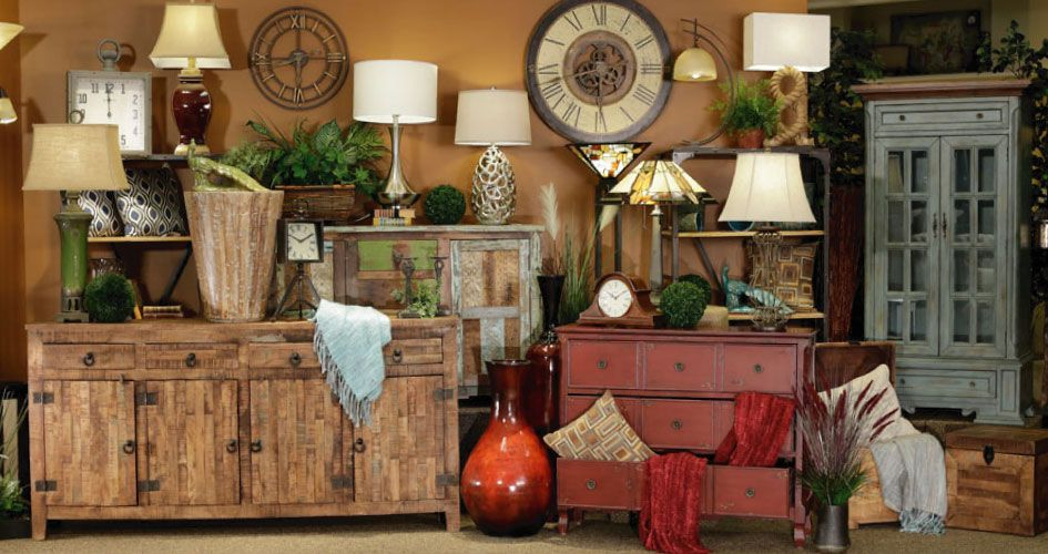 Home accents add color and definition to your space with accessories and accent furniture
