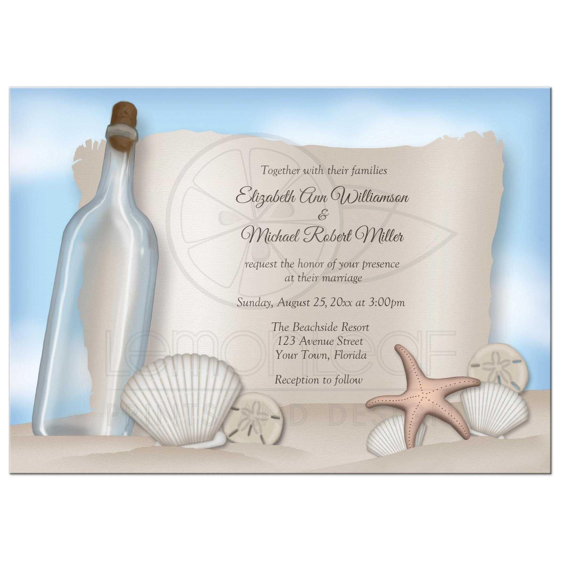 beach themed wedding invitations wording Invitations card