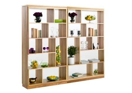 Monza_Wall_units_web || Two Blackwood Open Shelf Units side by side ...