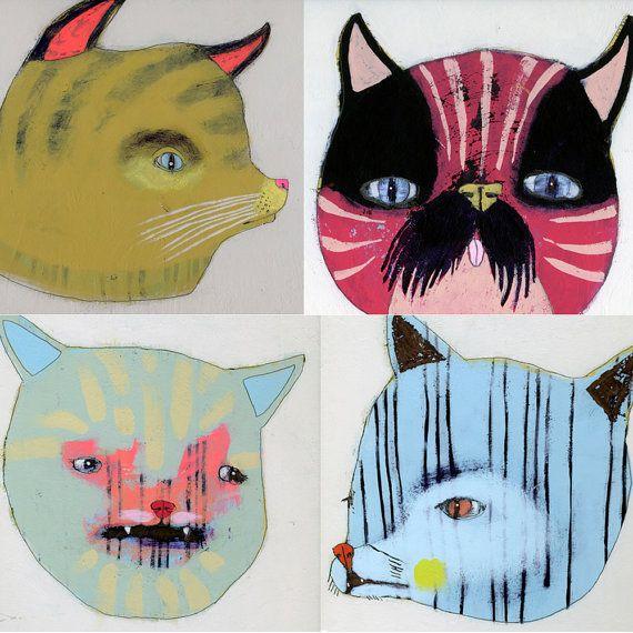 Kitty Litter  #art #painting #Etsy