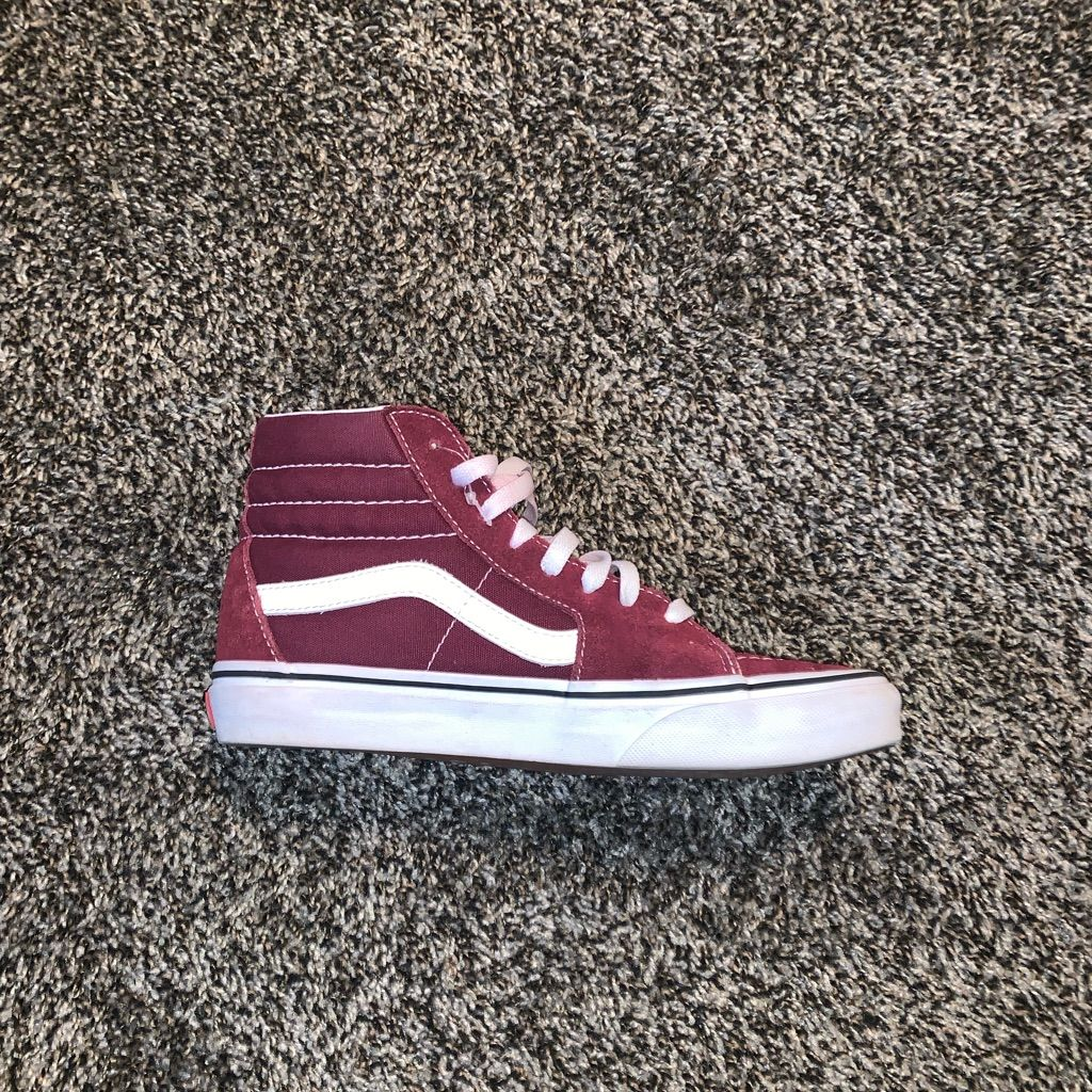 Vans Shoes | High Top Vans | Color: Red | Size: 7.5 | High