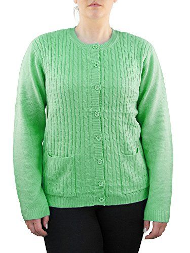 d651aae591a Knit Minded Womens Plus Size Long Sleeve Two Pocket Cable Knit ...