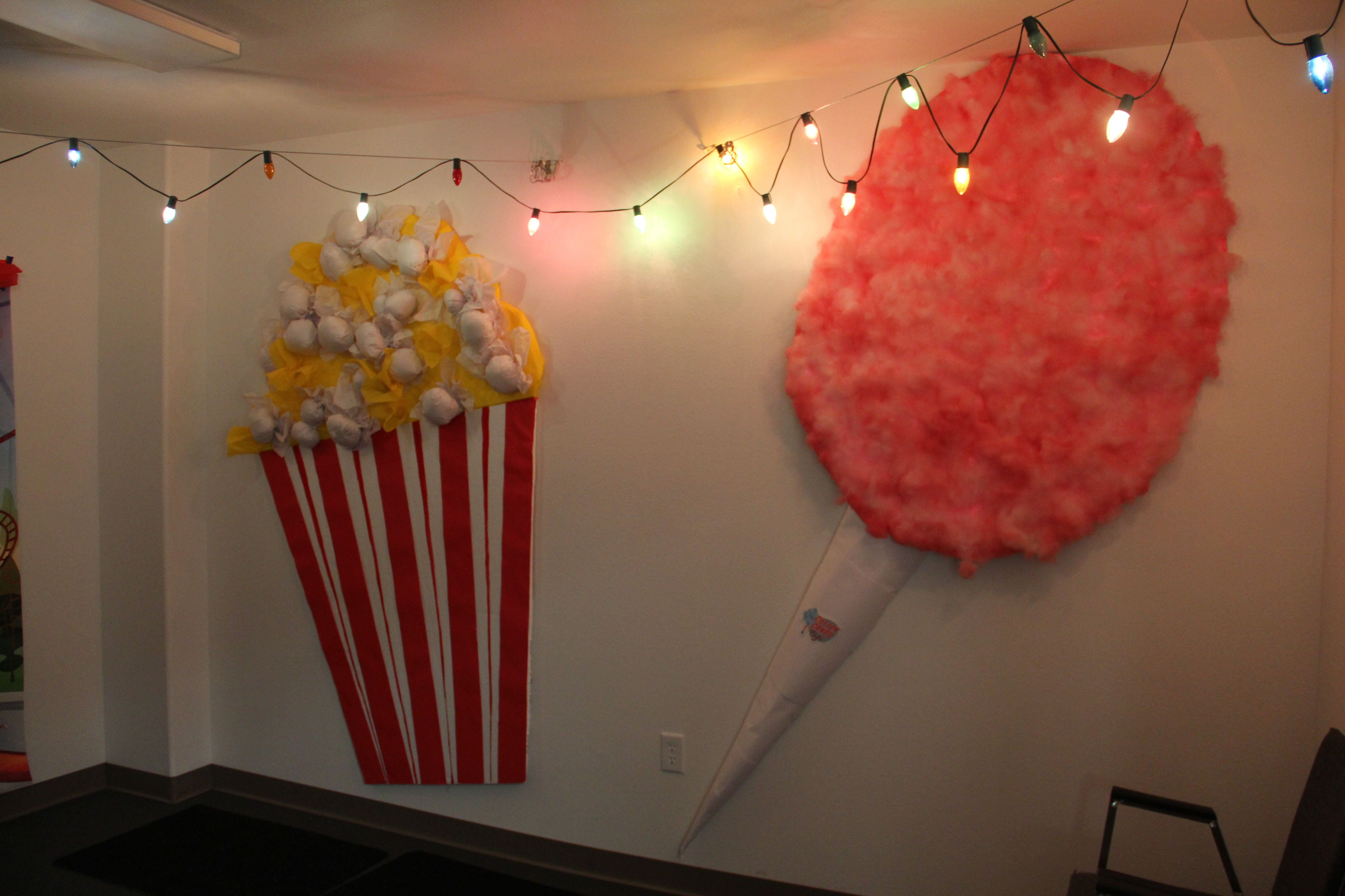 colossal sized POPCORN and COTTON CANDY wall decor!! 4 x 8 ...