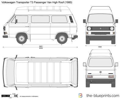 Volkswagen Transporter T3 Passenger Van High Roof Volkswagen Transporter Volkswagen Van