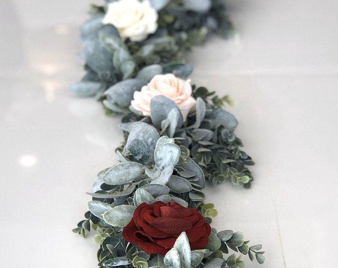 Photo of 2.5′- 3′ Eucalyptus Garland, Artificial Eucalyptus Garland, Wedding Centerpiece, Eucalyptus Wreath, Greenery Garland, Table Wreath, Succulen