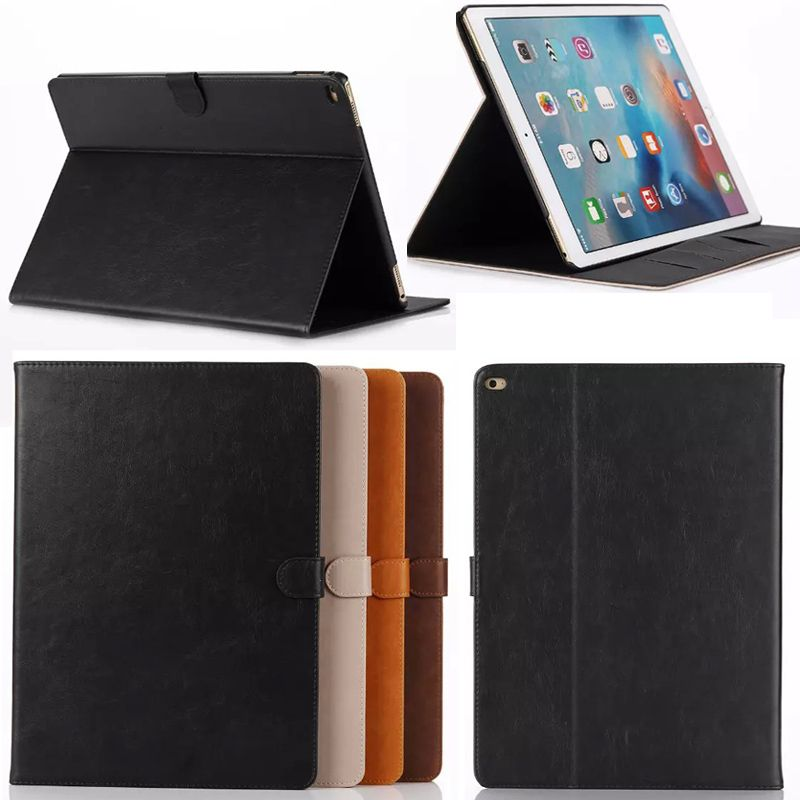 Business style Crazy Horse PU Leather case Cover For Apple iPad Pro ...