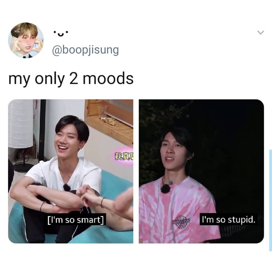 Nct The Living Meme On Instagram I M Either One Of Them Or Both There Is No In Between Funny Kpop Memes Kpop Memes Nct