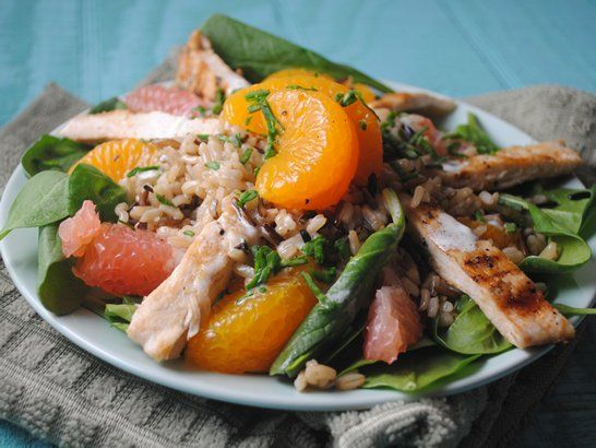 Citrus Chicken Salad Quericavida Com Citrus Recipes Citrus Chicken Chicken Salad