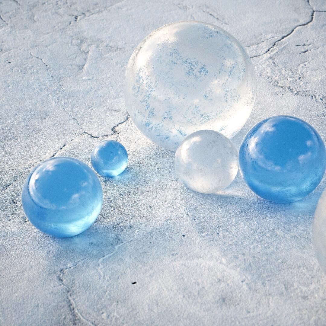 1 20 2016] //AZULES\\ #c4d #cinema4d #octane #octanerender #glass