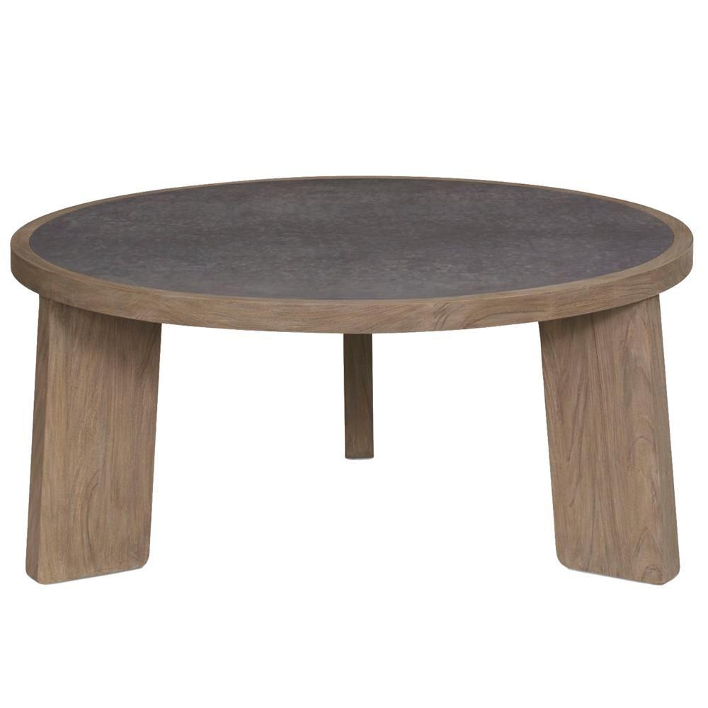 Malik Mid Century Modern Brown Teak Wood Round Coffee Table Round Wood Coffee Table Coffee Table Round Coffee Table [ 1000 x 1000 Pixel ]