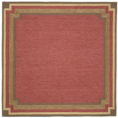 August Grove Dazey Red Border Outdoor Rug Size Square 8 Rugs Free Shipping And Products