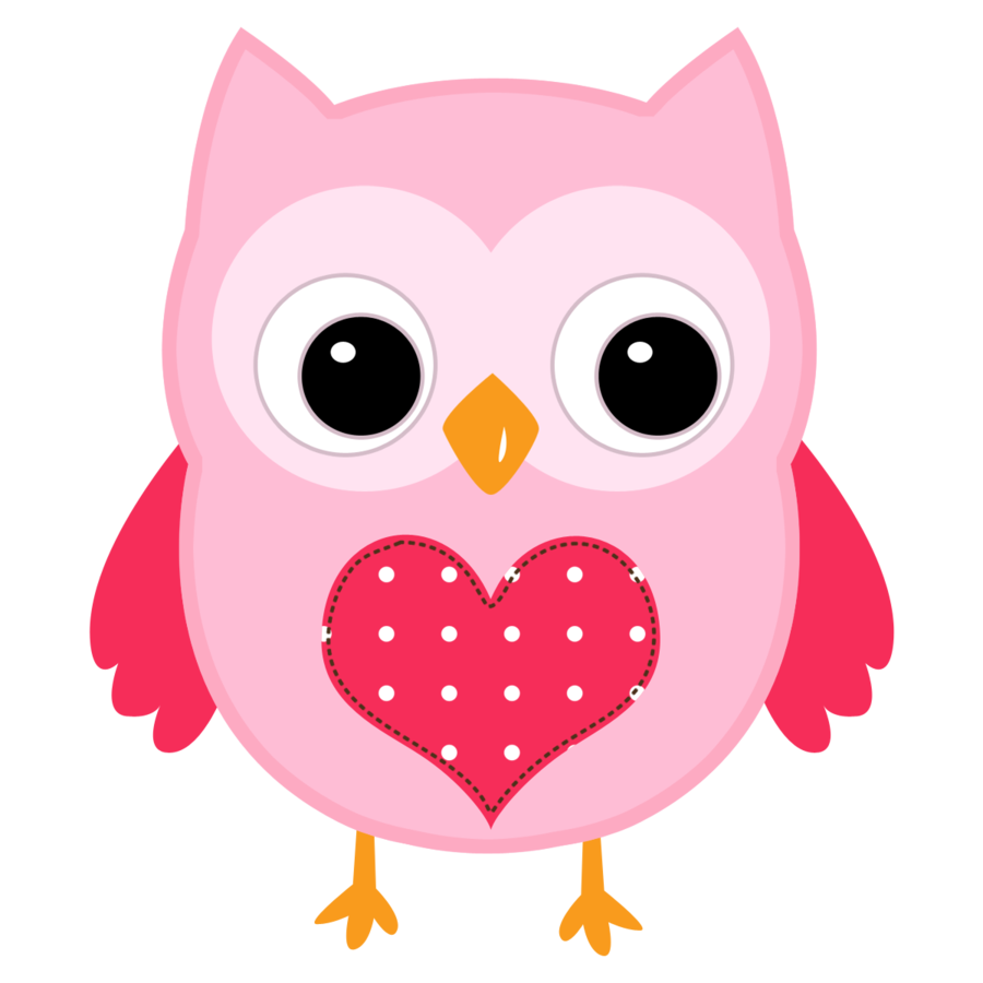 Valentine Cute - Owl Clipart Embroidery Crafts Bird