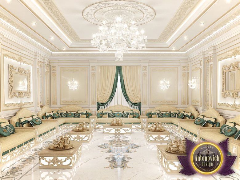 Arabic majlis interior design from luxury antonovich - Decor oriental design interieur luxe antonovich ...