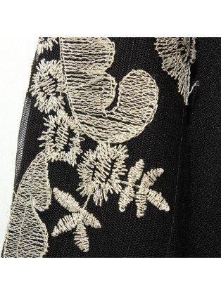 Retro Embroidered Colorblock Pullover