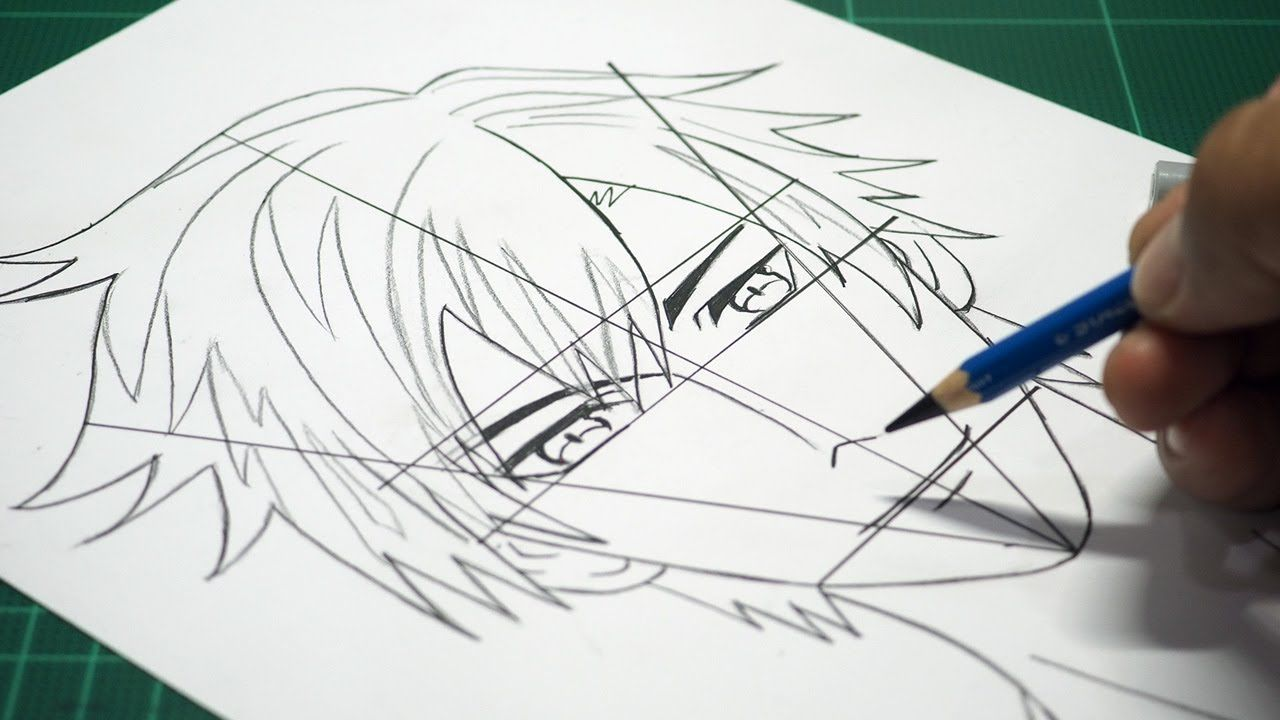 7 Easy Steps To Draw A Anime Boy Face Step By Step Slow Drawing Tutorial Drawing Tutorial Easy Drawing Steps Boy Face