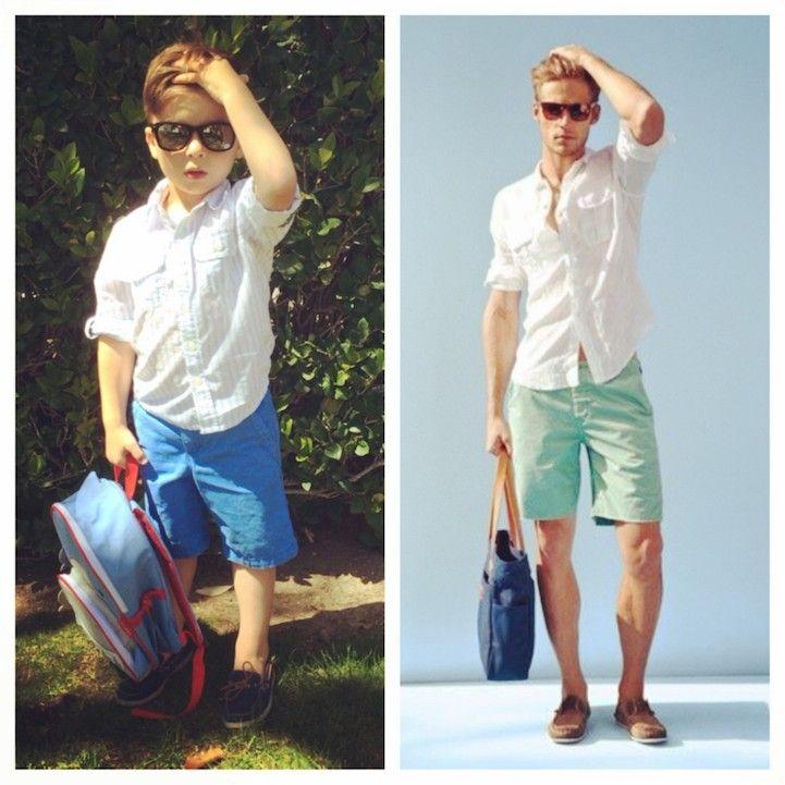 cfe6012f1 Adorable 4-Year-Old Boy Mimics Male Fashion Models - My Modern Metropolis