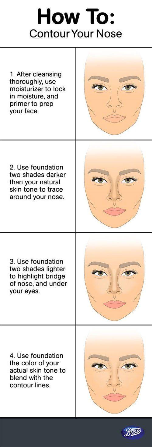 How To Contour Highlight Nose Contouring Hacks Tips Nose