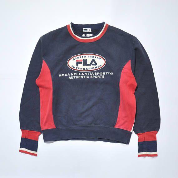 Vintage FILA Sweatshirt Sweater Moda Nella 90s Fashion